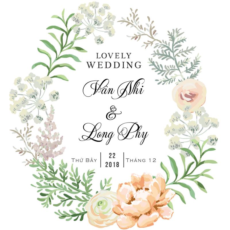 Bảng tên cưới đẹp 2